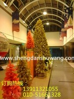 金色圣诞树国贸商城专卖店节日装饰