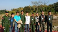 团队部分成员与缅甸将军合影