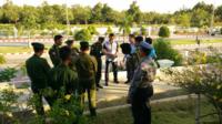 与缅甸军方商讨安保