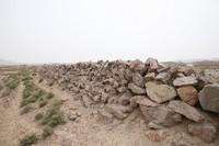 上沙沃长城3段垒筑的石墙