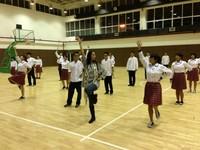 舞蹈团集体舞排练