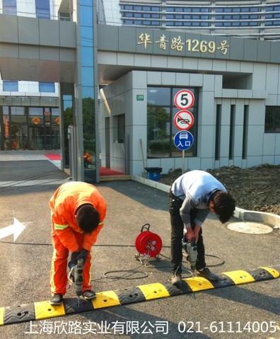 上海辰光医疗科技厂区门口施工