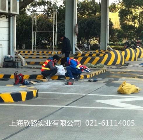 上海青浦出口加工区减速带安装